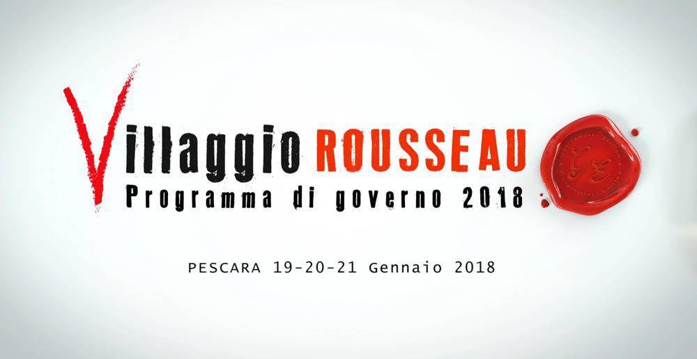 Il programma del Villaggio Rousseau il 19, 20 e 21 gennaio aPescara