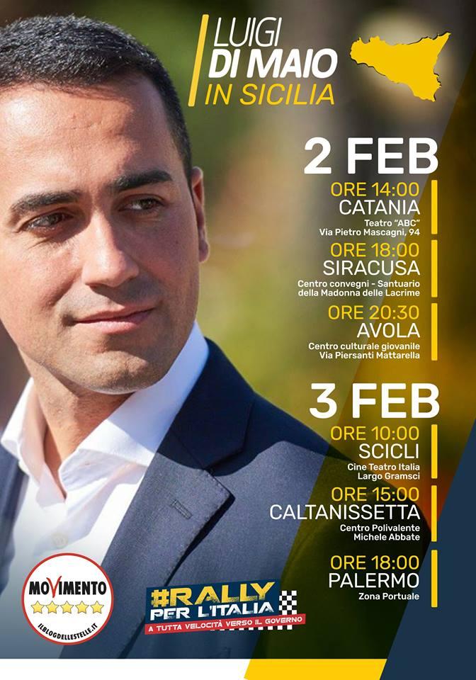 Di Maio in Sicilia 2_3 febbraio 2018