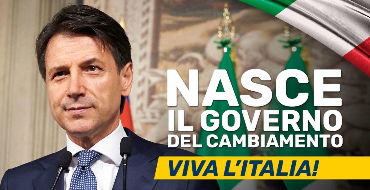 Nasce il Governo del Cambiamento, domani alle 16 il giuramento del nuovo premier GiuseppeConte