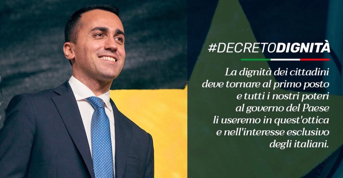 Arriva il #DecretoDignità