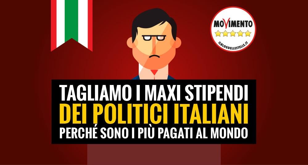 Tagliamo gli stipendi dei parlamentari italiani, i più pagati delmondo