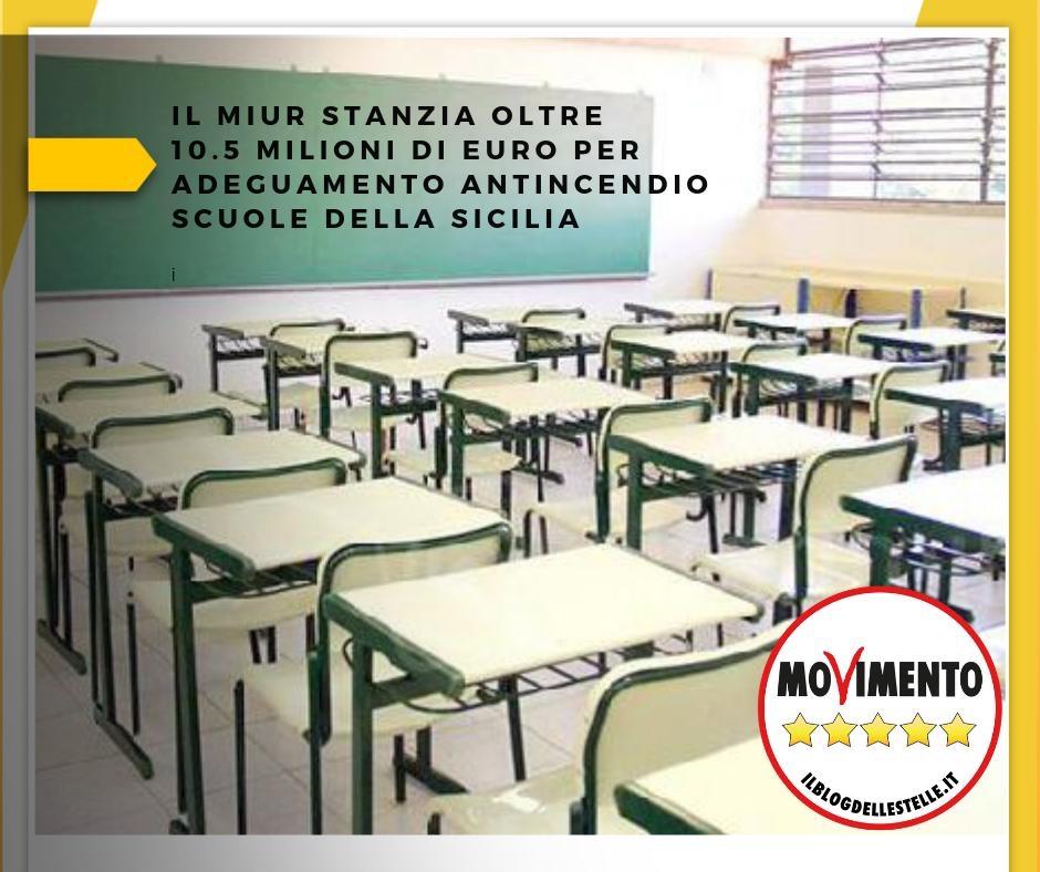 """SICILIA,LOREFICE (M5S): """"IL MIUR STANZIA OLTRE 10 MILIONI E MEZZO PER ADEGUAMENTO ANTINCENDIOSCUOLE"""""""