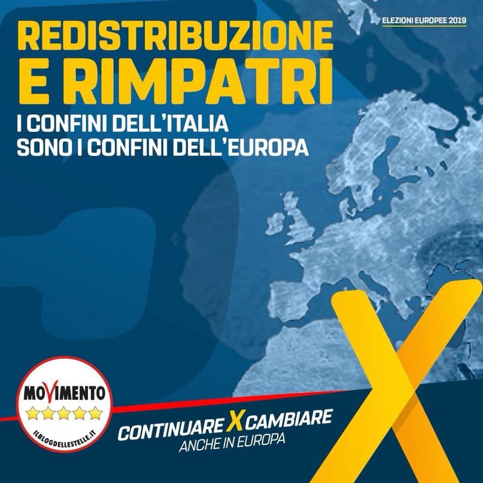 """Redistribuzione e rimpatri, M5S: """"Le politiche Europee vannoriviste"""""""