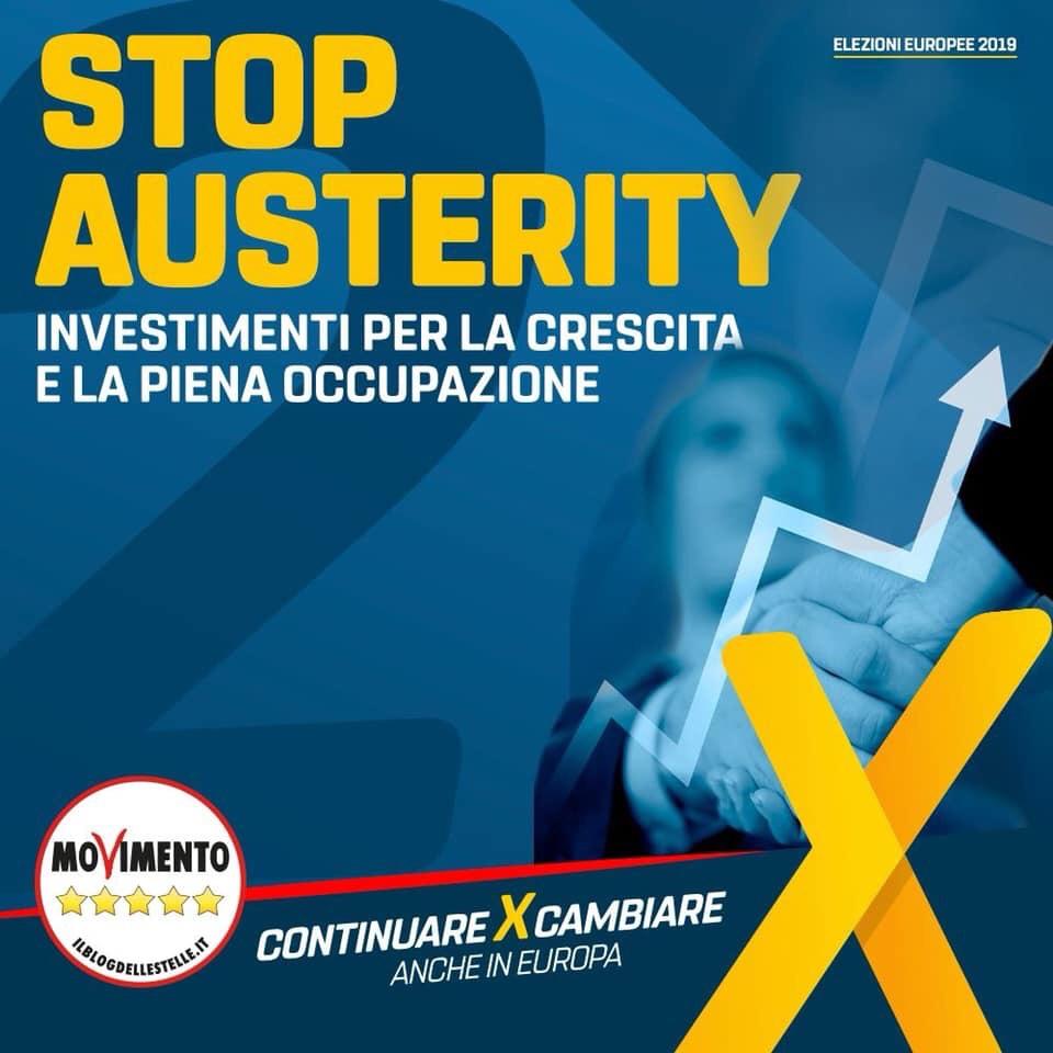 """Europee, M5S: """"Basta austerità, le priorità sono lavoro eoccupazione"""""""
