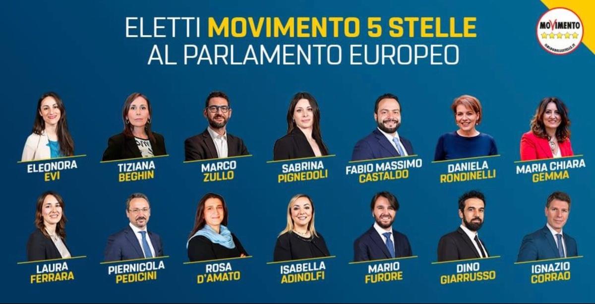 I 14 eletti del M5S al Parlamentoeuropeo