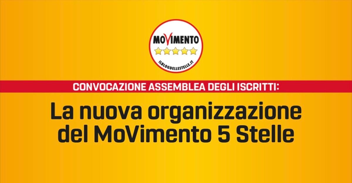 Convocazione Assemblea degli iscritti: la nuova organizzazione del MoVimento 5Stelle