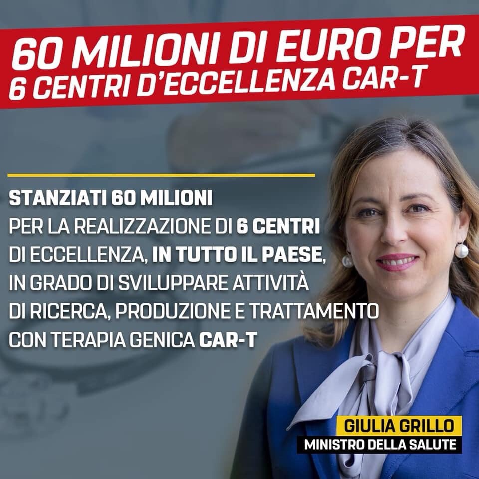 LEUCEMIE. STANZIATI 60 MILIONI DI EURO PER 6 CENTRI PER TERAPIECar-T
