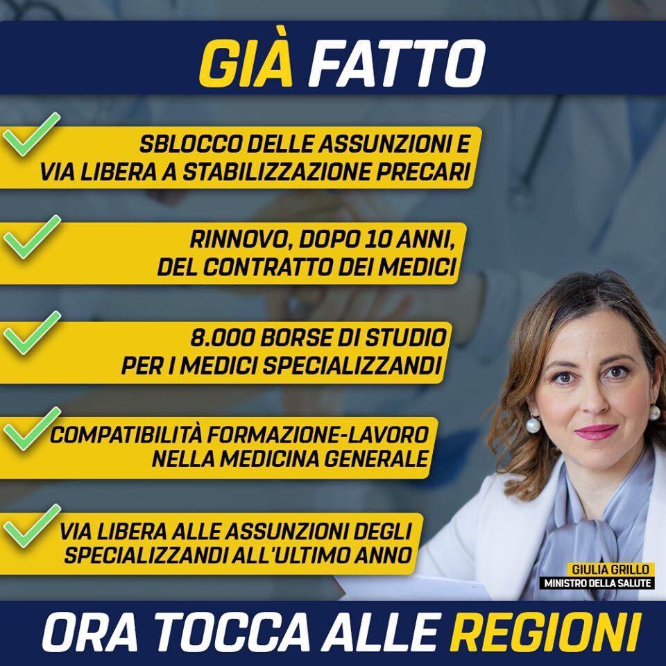Ecco cosa il ministro Giulia Grillo ha giàfatto