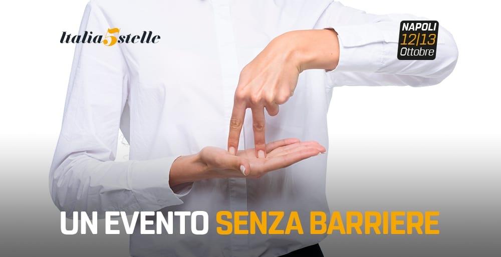 Italia 5 Stelle, un evento interamente accessibile per isordi
