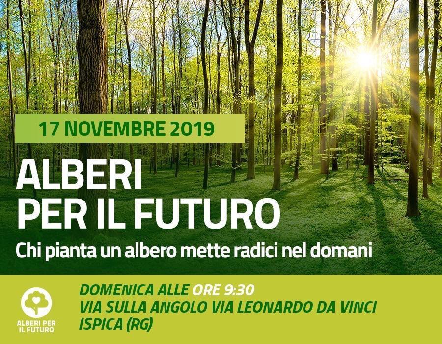 """Alberi per il futuro, Lorefice e Meetup Ispica (M5S): """"Piantare un albero è avere a cuore laVita"""""""