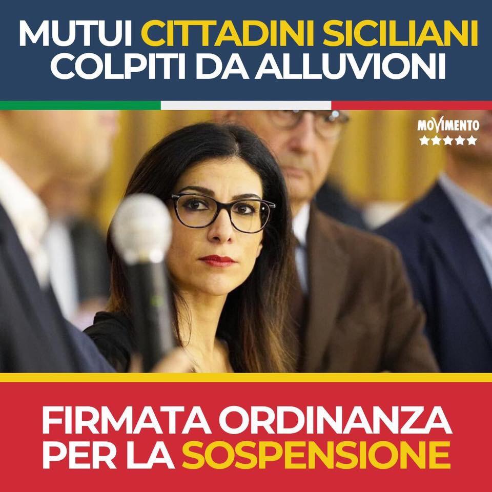 Maltempo, sospesi i mutui per i cittadini siciliani che hanno subito danni durante l'alluvione di ottobre2019