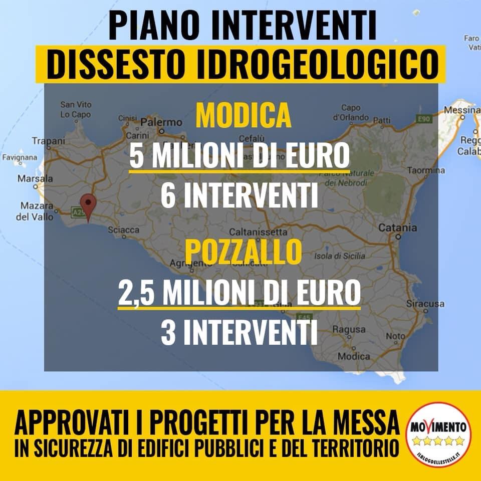 """Lorefice (m5s): """"7.5 milioni di euro alla provincia di Ragusa per interventi di messa in sicurezza degli edifici e delterritorio"""""""